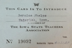 Bernice Phelps Expires 1920