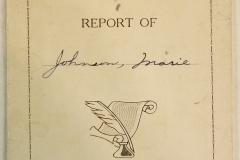 Marie Johnson - Report 1940-41