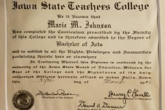 Bernice Johnson Iowa State Teachers College