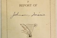 Marie Johnson - Report 1940-41